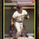 BARRY BONDS 1992 Topps McDonald's Best GOLD Insert #12 of 44.  PITTSBURGH