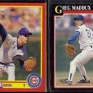 GREG MADDUX 1990 Score #403 + 1991 Score #317.  CUBS