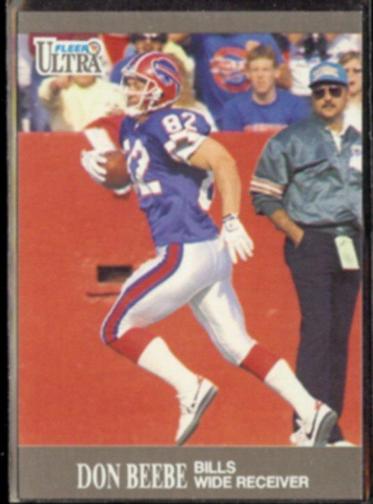 DON BEEBE 1991 Ultra #1.  BILLS