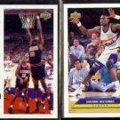 DIKEMBE MUTOMBO 1994 UD 3D Jam + 1992 UD McDonald's Insert.  NUGGETS