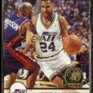 JEFF MALONE 1993 Hoops GOLD Insert #217.  JAZZ