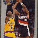 TERRY PORTER 1992 Fleer Sharp Shooter Insert #6 of 18.  BLAZERS