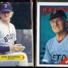 JOHN McNAMARA 1987 Leaf Pop Up + 1988 Topps #414.  RED SOX