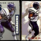 JUNIOR SEAU 1992 Prime Time #318 + 1992 Power #55.  CHARGERS