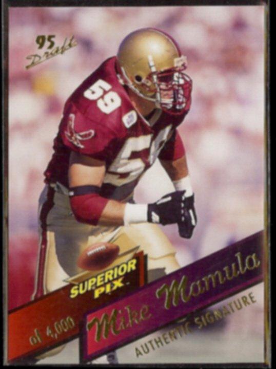 MIKE MAMULA 1995 Superior Pix of 4,000 - Card #109.  BOSTON COLLEGE EAGLES