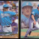 JEFF CONINE 1993 Ultra Rookie #371 + 1993 Flair #49.  MARLINS