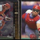 IVAN RODRIGUEZ 1994 Upper Deck SP #151 + 1996 Ultra #139.  RANGERS