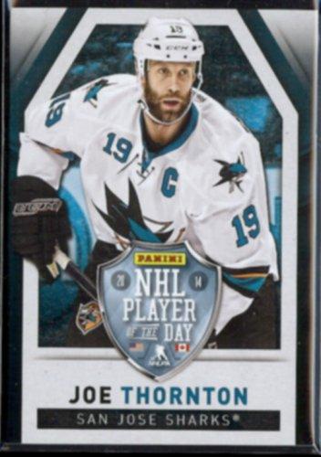 JOE THORNTON 2010 Panini NHL Player of the Day #3.  SHARKS - Thick Stock