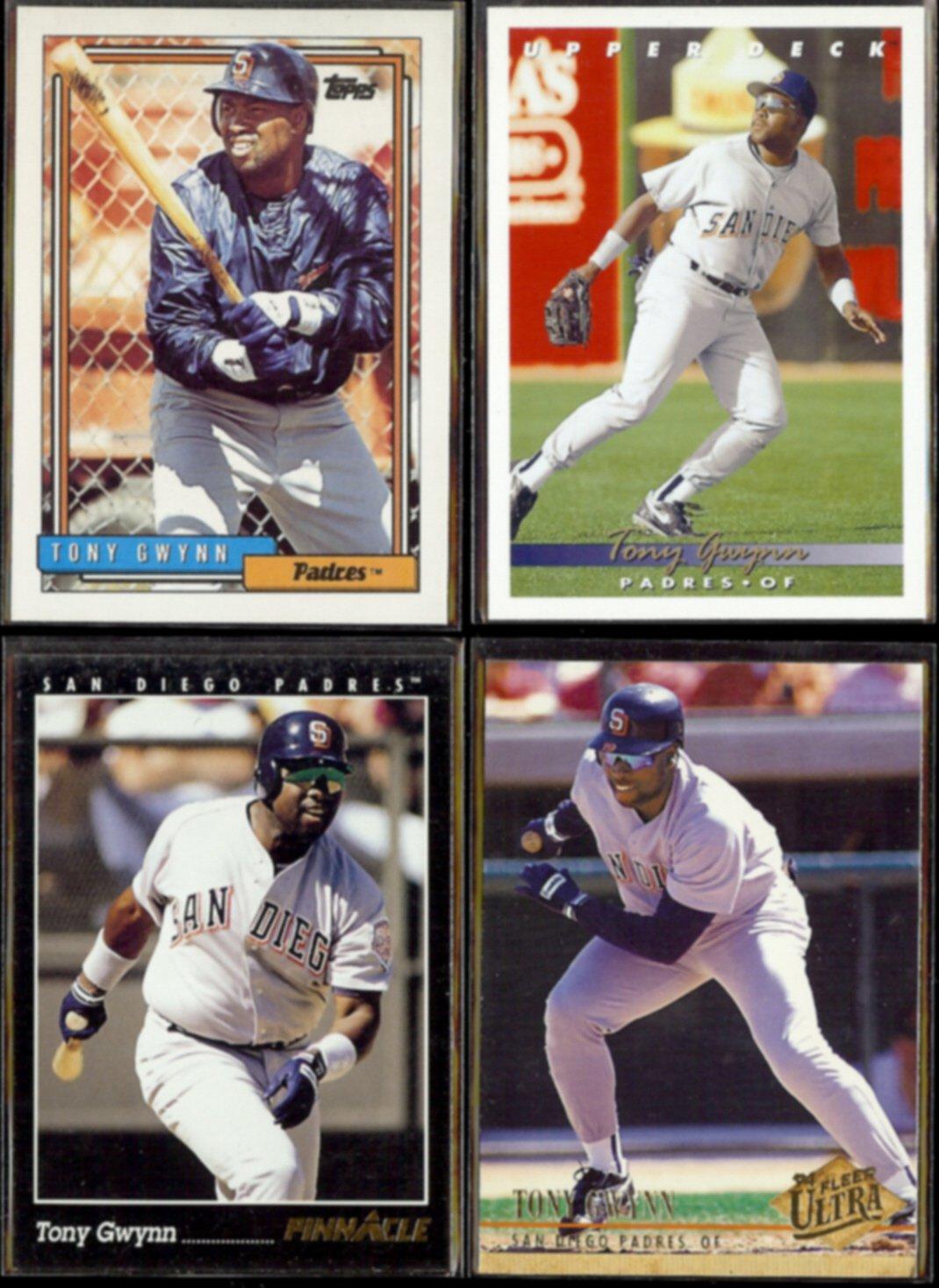 TONY GWYNN (4) Card Lot (1992 - 1994)  PADRES