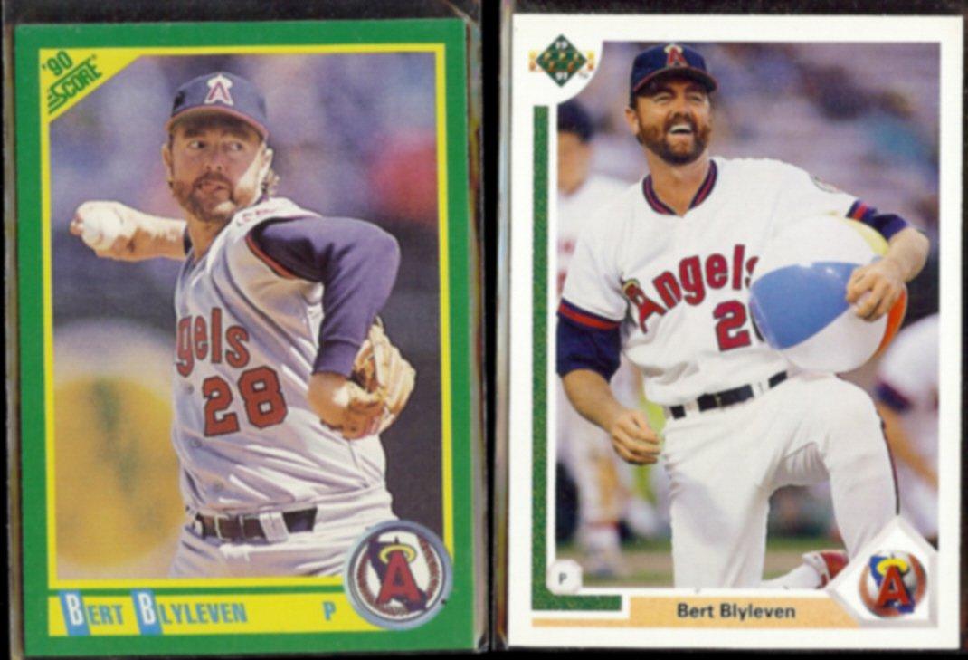 BERT BLYLEVEN 1990 Score #180 + 1991 Upper Deck #571.  ANGELS