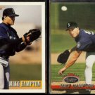 MIKE HAMPTON 1993 Bowman #459 + 1993 Stadium Club #731.  MARINERS