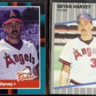 BRYAN HARVEY 1988 Donruss Rookies #53 + 1989 Fleer #479.  ANGELS