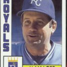DICK HOWSER 1984 Topps #471.  ROYALS