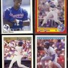 RUBEN SIERRA (4) Card Lot (1990 + 1992)  RANGERS
