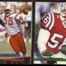ANDRE TIPPETT 1993 Ultra #294 + 1993 Stadium Club #395.  PATRIOTS