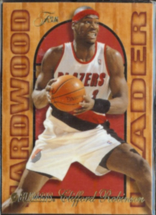 CLIFF ROBINSON 1995 Flair Hardwood Leader Insert #22 of 27.  BLAZERS