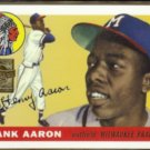 HANK AARON 2000 Topps (1955) Reprint Stamp Insert #47 / #2 of 23.  BRAVES
