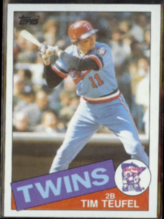 TIM TEUFEL 1985 Topps #239.  TWINS