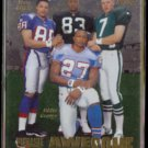 EDDIE GEORGE 1997 Pinnacle Zenith Foil Awesome Foursome #148.  OILERS