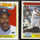 DAVE WINFIELD 1989 Topps AS #407 + 1985 Topps Drake's #32.  YANKEES
