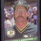 CARNEY LANSFORD 1986 Donruss #131.  A's