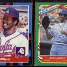 KEN GRIFFEY Sr. 1988 Donruss #202 + 1987 Fleer Star Stickers #49.  BRAVES