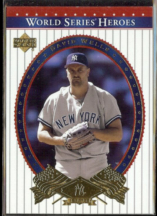 DAVID WELLS 2002 Upper Deck WS Heroes #89.  YANKEES vs. Padres