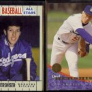 OREL HERSHISER 1990 Fleer All Stars #18 of 44 + 1994 Leaf #16.  DODGERS