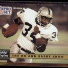 BO JACKSON 1991 Pro Set #335 w/ Barry Sanders.  RAIDERS