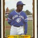 JUAN GUZMAN 1990 Pro Cards #1242.  KNOXVILLE Blue Jays