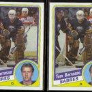 TOM BARRASSO (2) 1984 Topps #14.  SABRES
