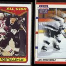 LUC ROBITAILLE 1990 Topps #194 + 1990 Score #316.  KINGS