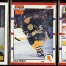 CAM NEELY 1987 Topps #69 + 1990 Score #323 + #4.  BRUINS