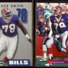 BRUCE SMITH 1992 PrimeTime #076 + 1995 Stadium Club #170.  BILLS