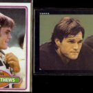 CLAY MATTHEWS 1980 Topps #418 + 1985 Topps #230.  BROWNS