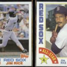 JIM RICE 1982 Topps #750 + 1984 Topps All Star #401.  RED SOX