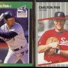 CARLTON FISK 1989 Donruss Best #11 + 1989 Fleer #495.  WHITE SOX