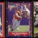 KARL MECKLENBURG (3) Card Lot (1989, 1991 + 1992)  BRONCOS