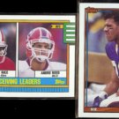 ANDRE REED 1990 Topps #431 w/ RICE + 1991 Topps #54.  BILLS
