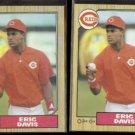 ERIC DAVIS 1987 Topps #412 + 1987 O-Pee-Chee #228.  REDS