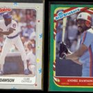 ANDRE DAWSON 1988 + 1987 Fleer Star Stickers.  CUBS / EXPOS