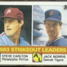 STEVE CARLTON 1984 Topps Leaders #136 w/ Jack Morris.  PHILLIES