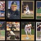 JASON GIAMBI (8) Card Lot (1996 - 2000).  A's