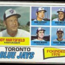 ROY HARTSFIELD 1977 Topps #113.  BLUE JAYS - Team Checklist