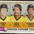 TONY PENA 1980 Topps PIRATES Future Stars #551 w/ Vance Law.