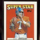 JOHN ELWAY 1988 Topps mini Stickers #3 of 67.  BRONCOS