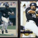 TIM RAINES 1993 Fleer #209 + 1994 Pinnacle #462.  WHITE SOX