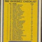 YANKEES / DODGERS 1982 Fleer Team Checklist #647.  Reggie, Guidry, Dusty, Cey++