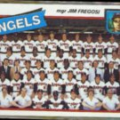 JIM FREGOSI 1980 Topps #214.  ANGELS Team Card