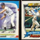 ALAN TRAMMELL 1989 Fleer Heroes #40 of 44 + Topps Ames Glossy #29.  TIGERS